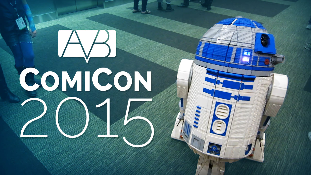 A life-size replica of R2-D2 built from LEGOs