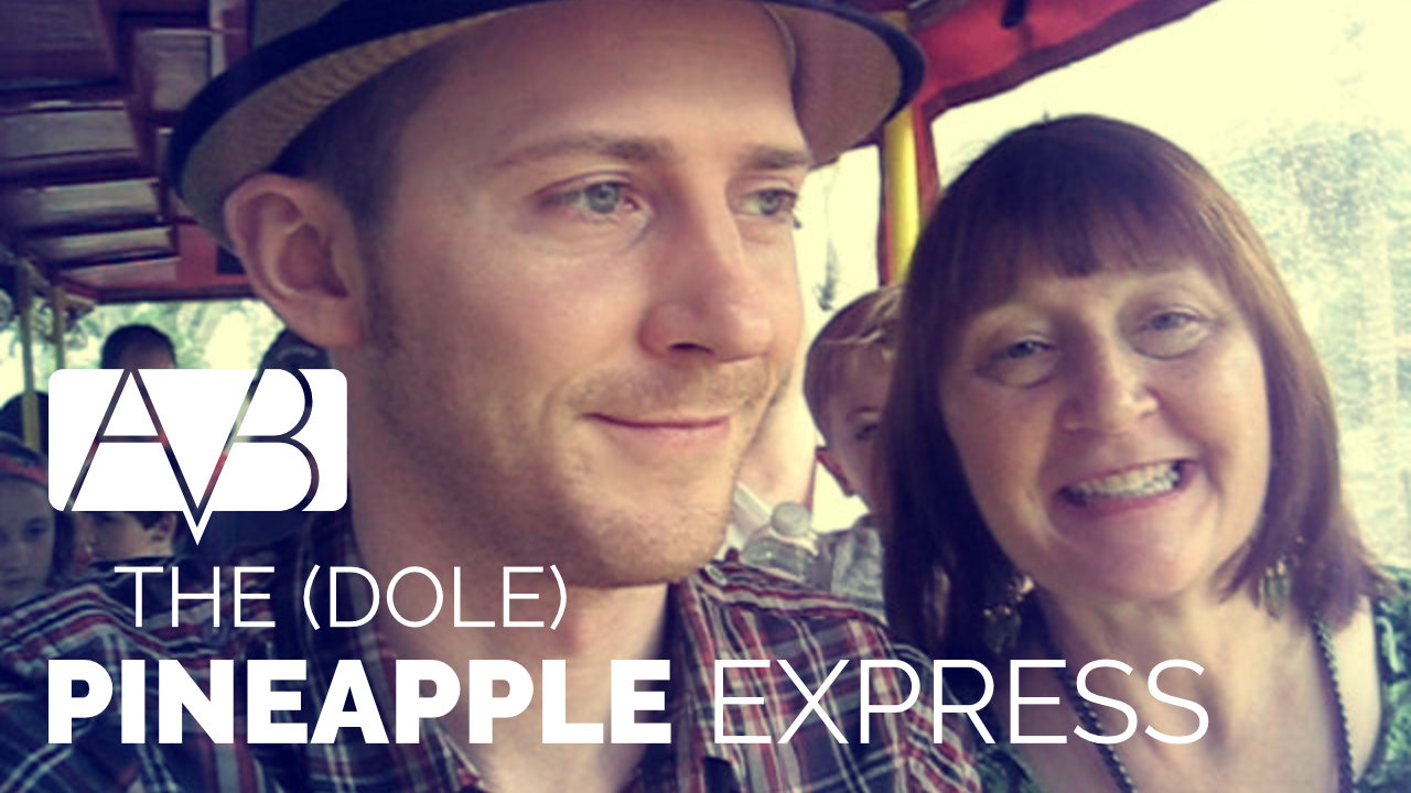 Jon and Cathy riding the Dole Pineapple Express