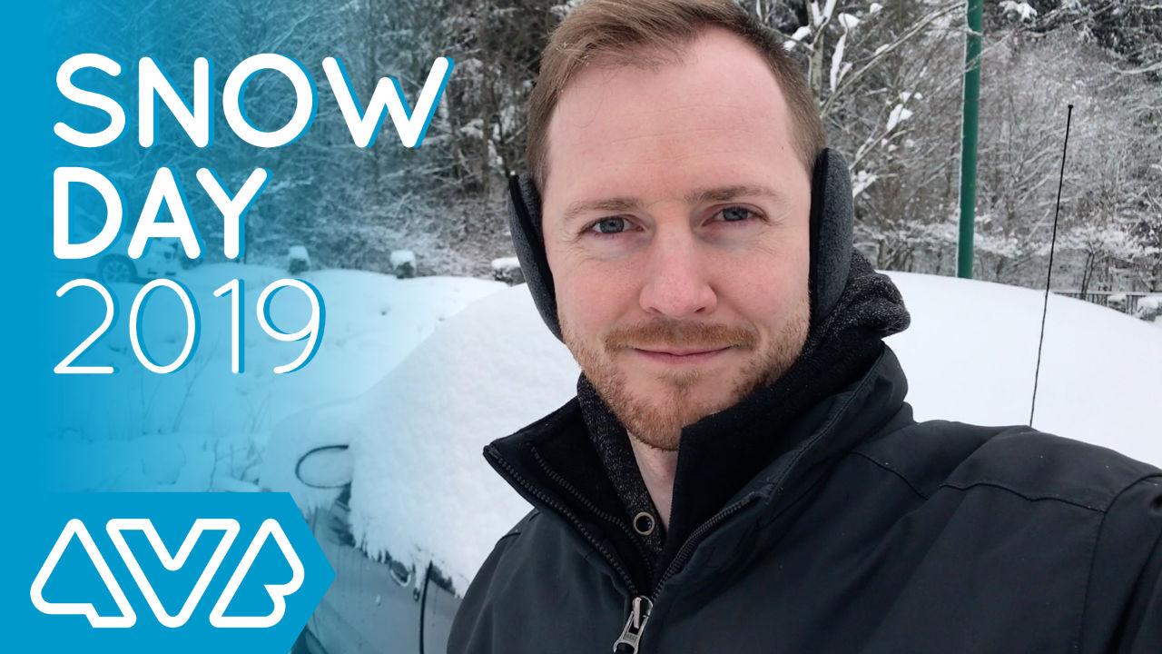 Jon outside on a snowy day