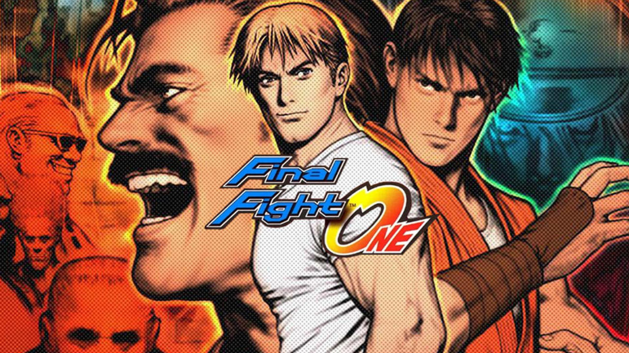 Cover artwork with Haggar, Guy, and Cody