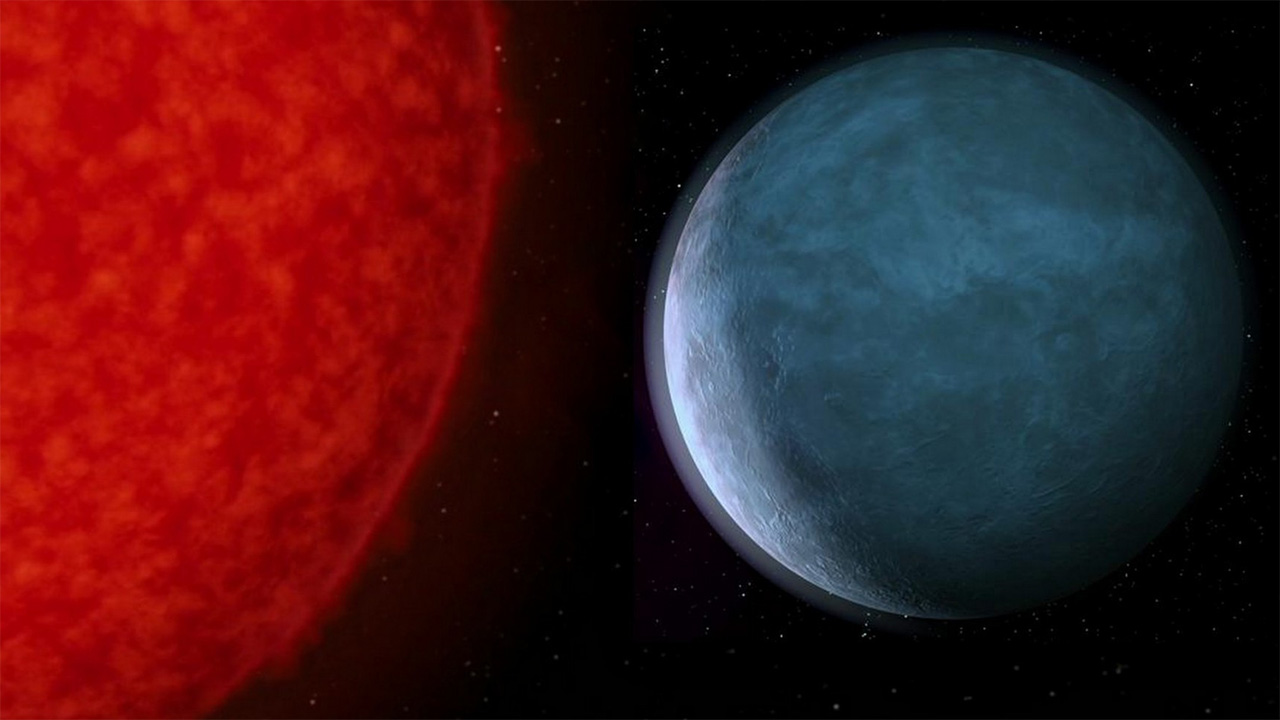 Krypton and its red sun