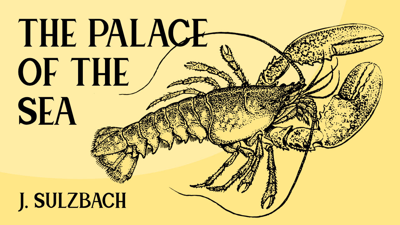 Illustration of a lobster on a yellow background